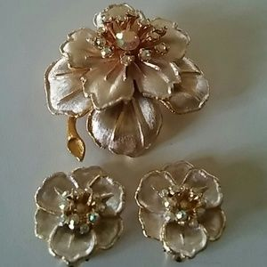 Vintage Earrings and pin